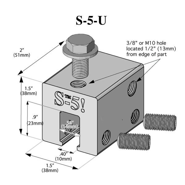 S 5 Universal Seam Clamp S 5 S 5 U Sun Source Energy