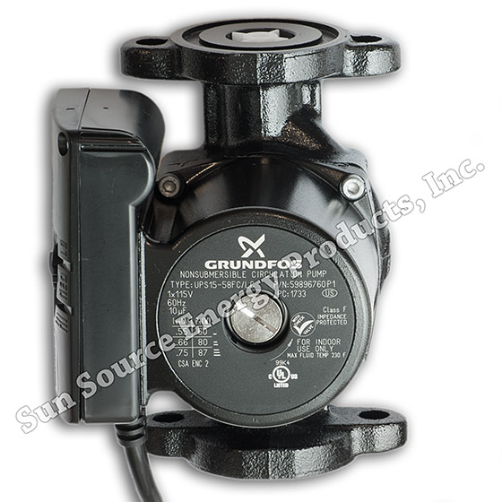 Grundfos Ups15 58fc Lc Circulator Pump Line Cord