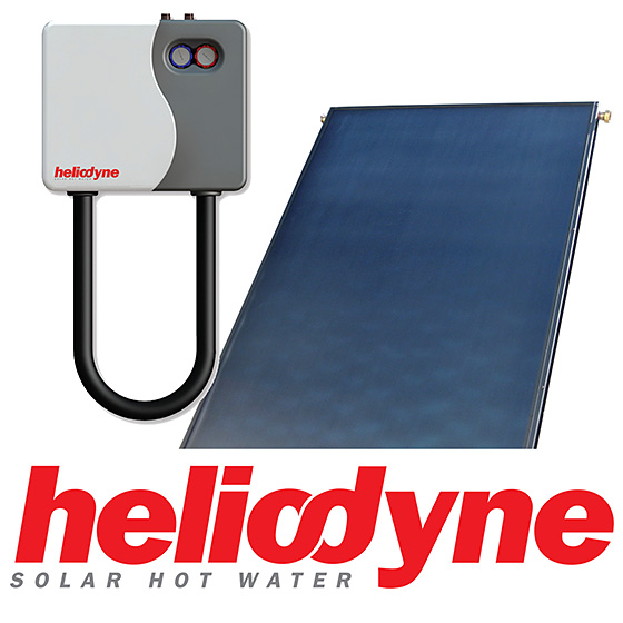 Heliodyne Solar Domestic Hot Water System with H-PAK (48,80)