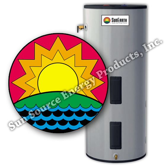 SunEarth+Single+Wall+Heat+Exchanger+Solar+Tank%2C+Electric+Backup%2C+80+Gallon